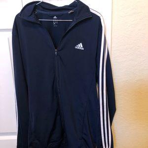 Men's Adidas Navy Track Jacket Medium